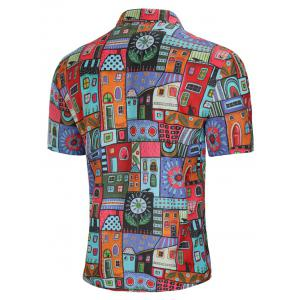 Allover House Print Short Sleeve Shirt -