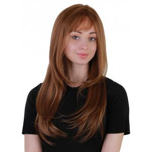 Long Side Bang Layered Straight Synthetic Party Wig -