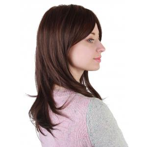 Medium Side Bang Straight Synthetic Wig -