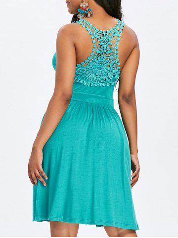 Unique Lace Panel Racerback A Line Dress
