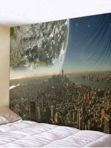 New Earth City Printed Tapestry Wall Hanging Decoration
