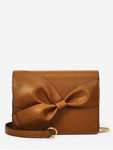 Outfits PU Leather Minimalist Bowknot Crossbody Bag
