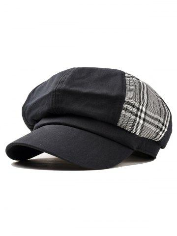Outfit Unique Vintage Plaid Pattern Newsboy Hat