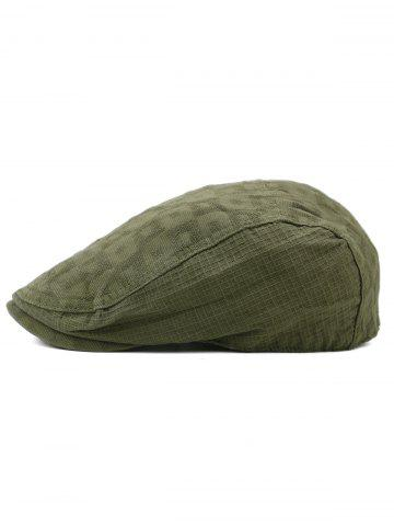 New Simple Checked Pattern Decorative Newsboy Cap