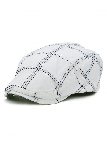 Buy Plaid Pattern Embroidery Jeff Hat