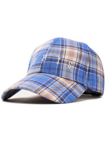 Sale Paris Embroidery Plaid Pattern Trucker Hat