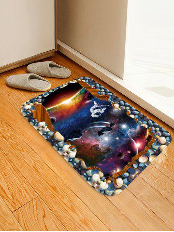 Fashion Uhommi Galaxy Starry Sky Printed Non-slip Area Mat