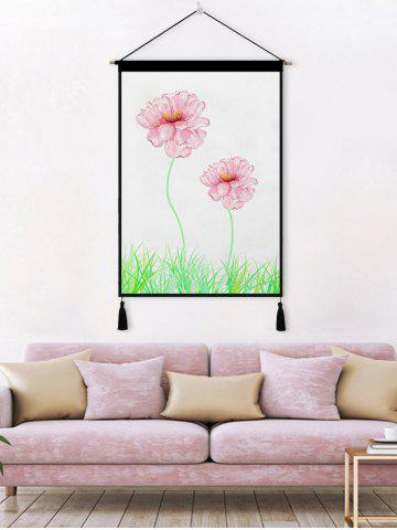 Outfits Blossom Printed Tassel Wall Hanging Painting