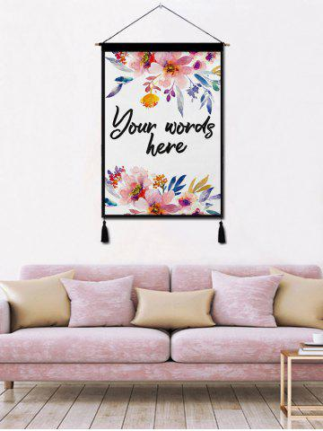 Store Flower Printed Tassel Wall Art Hanging Painting