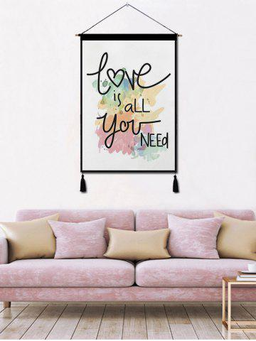Outfits Love is All Printed Tassel Wall Hanging Painting