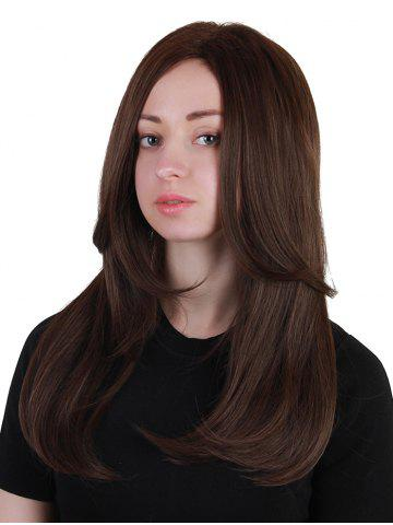 Fashion Middle Part Long Layered Straight Synthetic Wig
