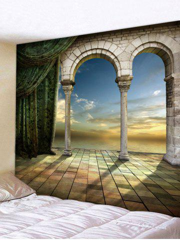 Outfits Mysterious Castle Door Print Wall Hanging Tapestry