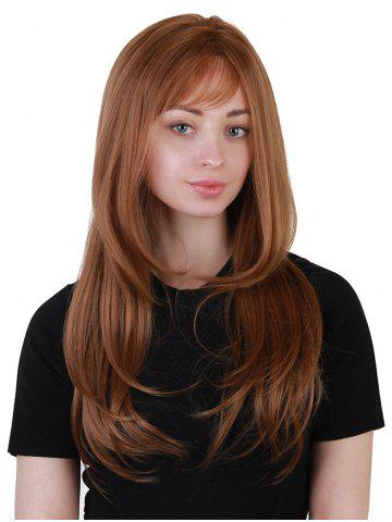 Fancy Long Side Bang Layered Straight Synthetic Party Wig