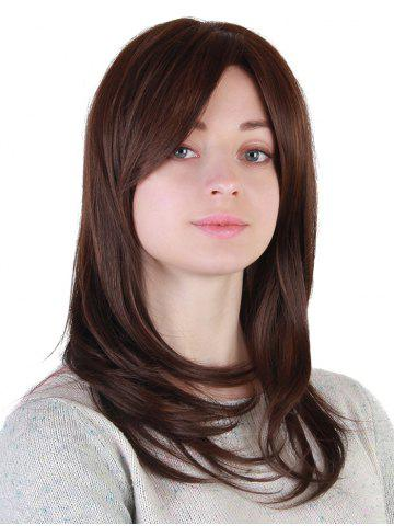 Sale Medium Side Bang Straight Synthetic Wig
