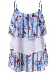 Stars Stripes Printed Layered Cami Top -
