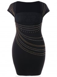 Beaded Detail Plus Size Bodycon Dress -