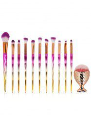 Ensemble de 12Pcs Gradient Color Handle Set de pinceaux de maquillage ultra doux -