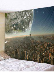 Earth City Printed Tapestry Wall Hanging Decoration -