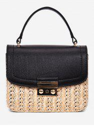 Vacation Style Straw Chain Crossbody Bag -