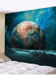 Wall Hanging Art Galaxy Earth Print Tapestry -