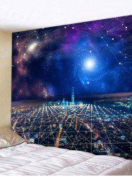 Starry Sky City Print Tapestry Wall Hanging Decor -