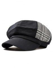 Unique Vintage Plaid Pattern Newsboy Hat -
