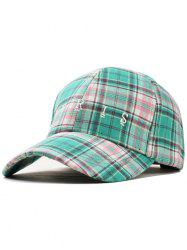 Paris Embroidery Plaid Pattern Trucker Hat -