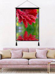Floral Printed Tassel Wall Hanging Painting -