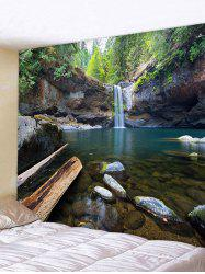 Forest Waterfall Print Wall Hanging Tapestry -