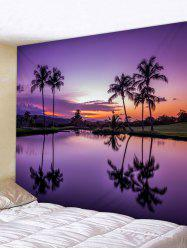 Sunset Purple River Print Wall Hanging Tapestry -