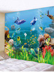 Beautiful Underwater World Print Wall Tapestry -