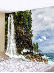 Cliff Waterfall Print Wall Hanging Tapestry -