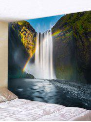 Rainbow Waterfall Print Wall Hanging Tapestry -