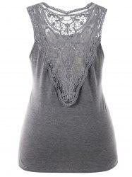 Plus Size Sleeveless Crochet Lace Top -
