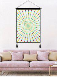 Abstract Geometric Printed Tassel Wall Hanging Painting -