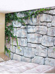 Wall Hanging Art Stone Brick Wall Print Tapestry -