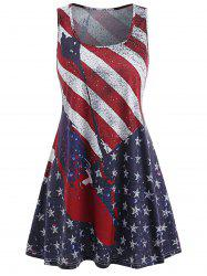 Patriotic American Flag Tunic Dress -