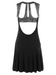 Rivets Backless Sleeveless Dress -