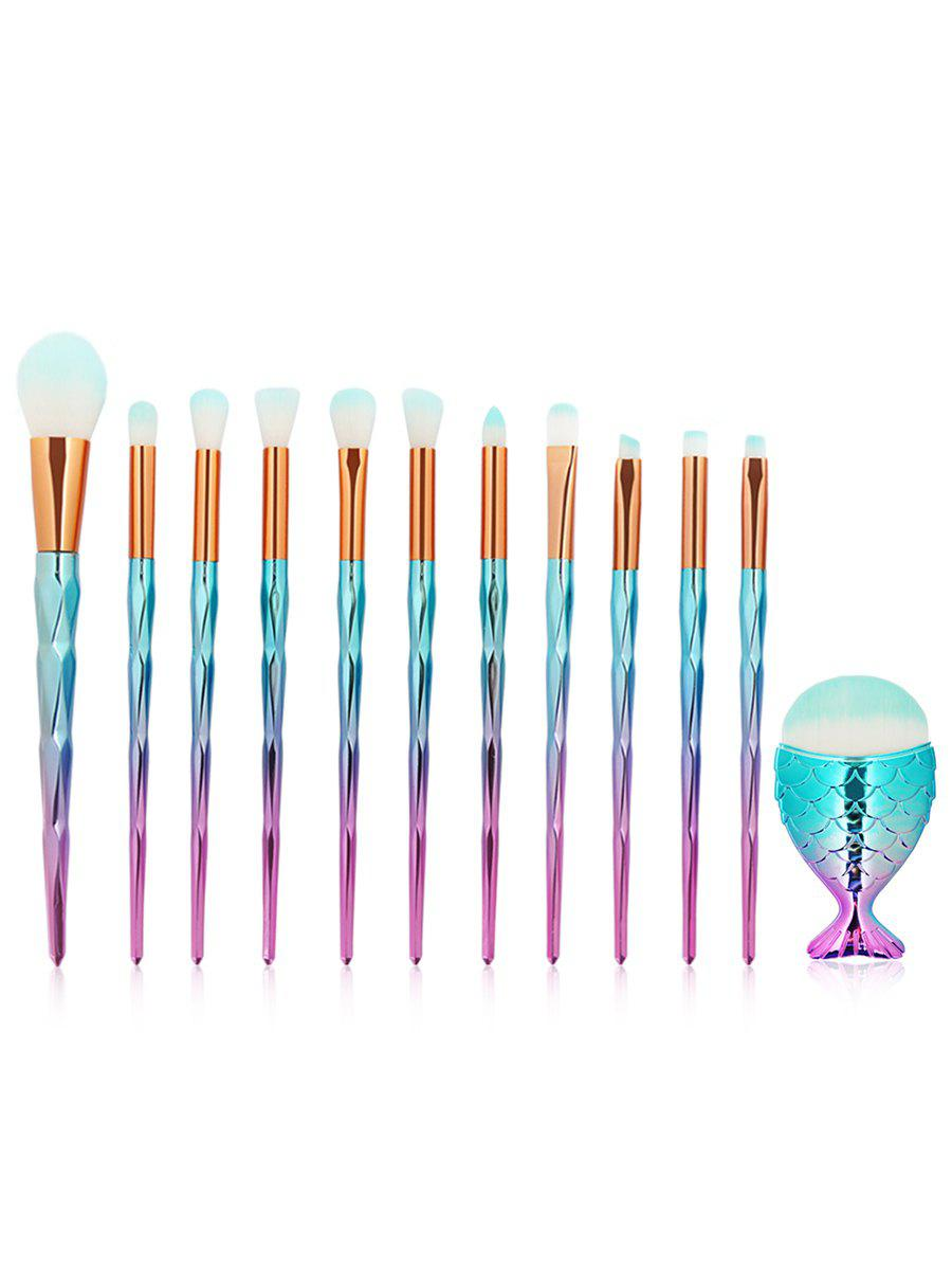 Latest Set of 12Pcs Gradient Color Handle Ultra Soft Makeup Brush Set
