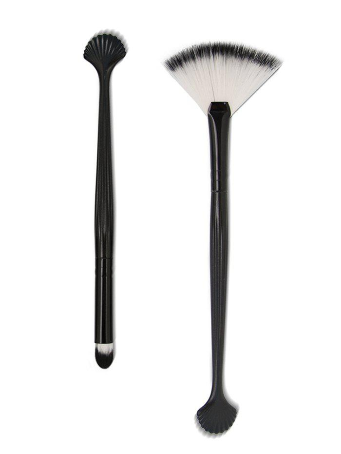 Latest Professional 2Pcs Shell Shaped Ultra Soft Eyeshadow Powder Brush