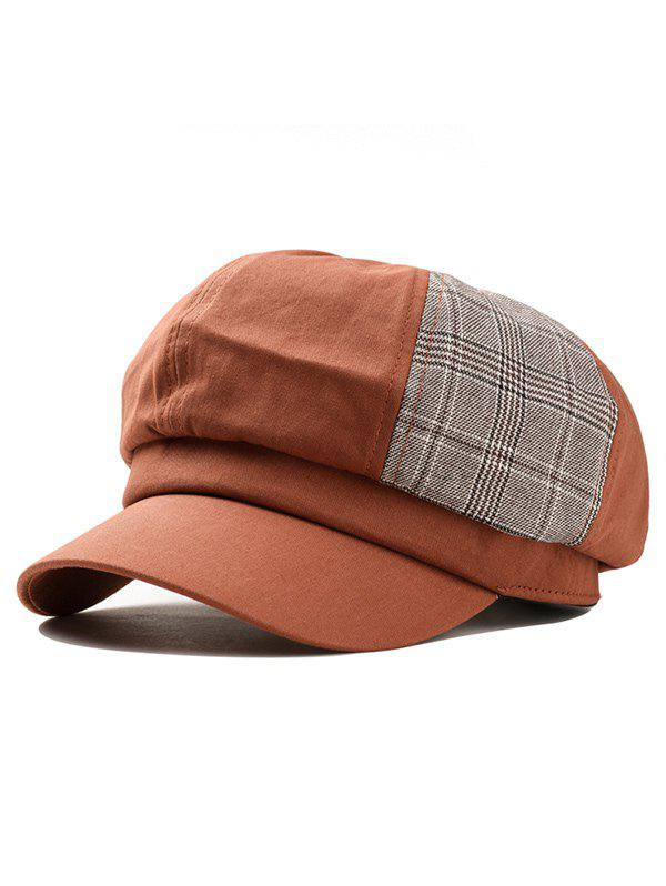 Trendy Unique Vintage Plaid Pattern Newsboy Hat