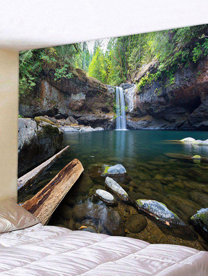 Online Forest Waterfall Print Wall Hanging Tapestry