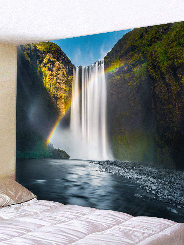 Trendy Rainbow Waterfall Print Wall Hanging Tapestry
