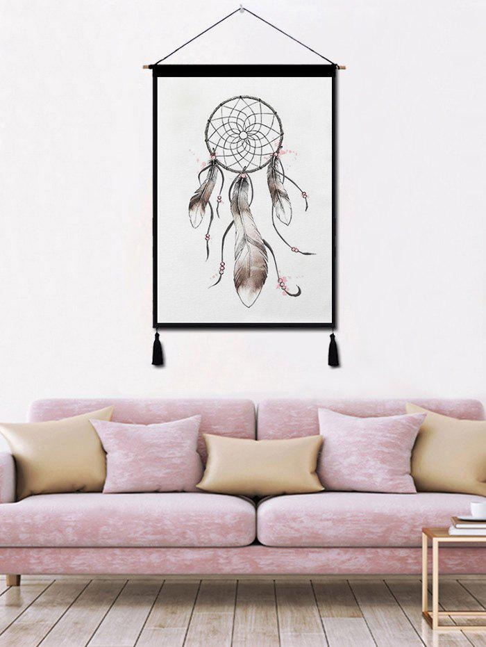 New Dream Catcher Feather Printed Tassel Wall Hanging Painting
