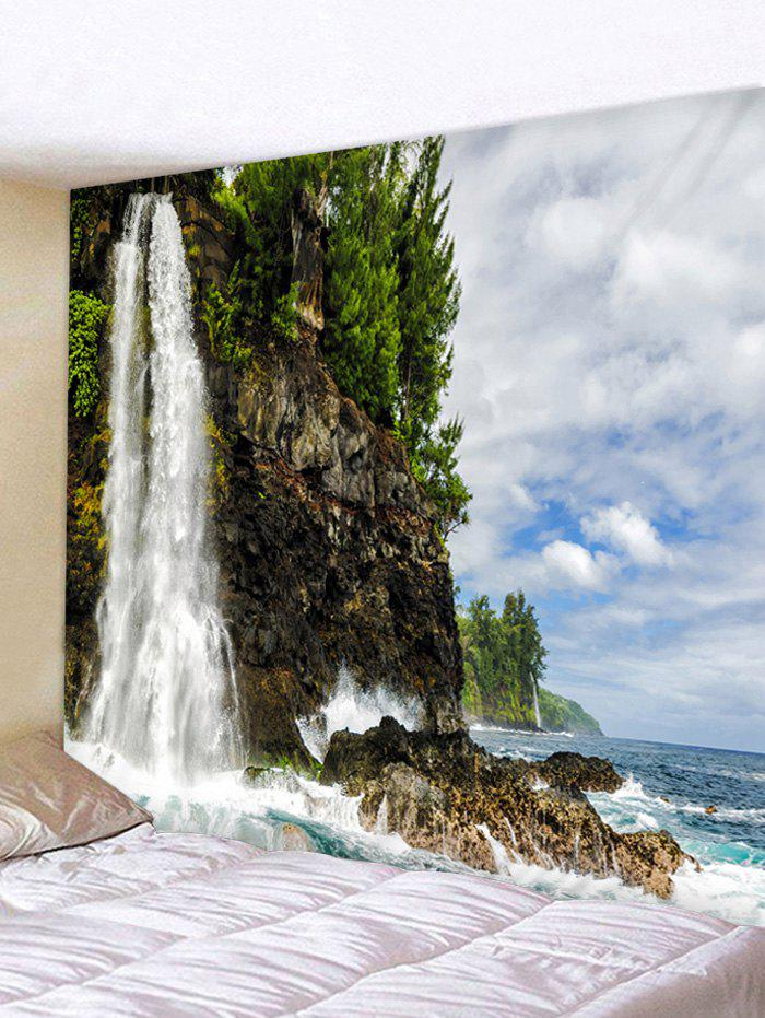 Shop Cliff Waterfall Print Wall Hanging Tapestry