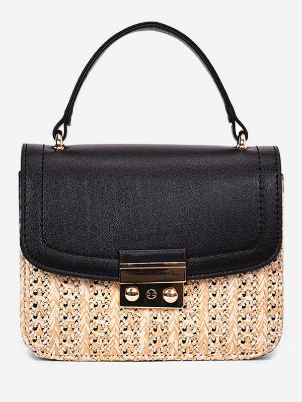 Cheap Vacation Style Straw Chain Crossbody Bag