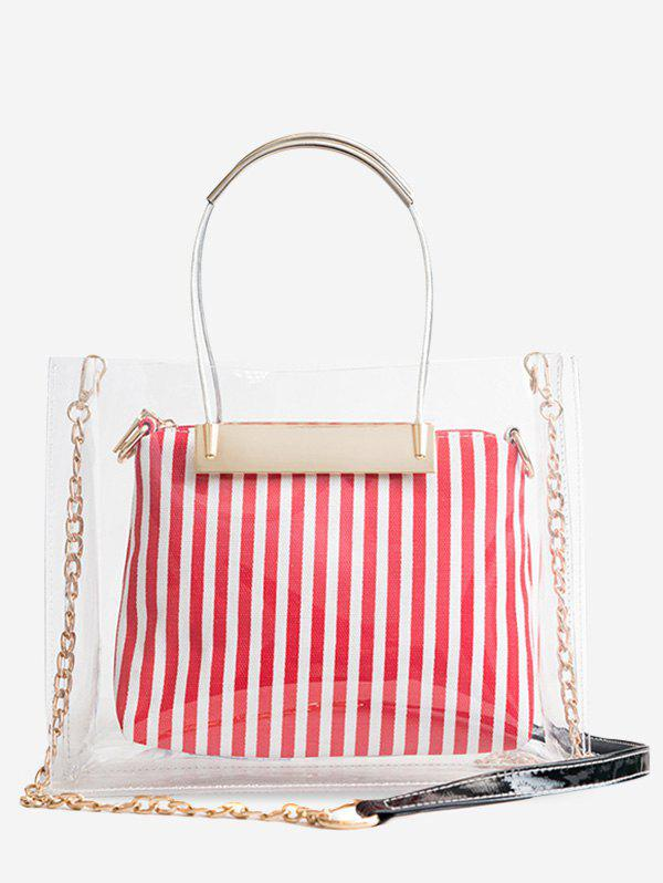 Outfits Lucid Striped 2 Pieces Tote Bag Set