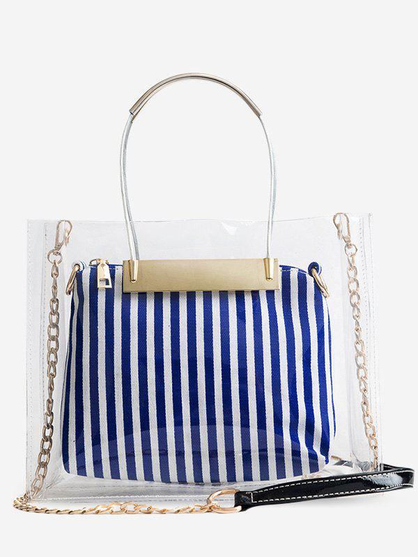 Fancy Lucid Striped 2 Pieces Tote Bag Set
