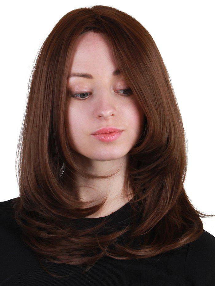 Chic Medium Side Bang Straight Synthetic Wig