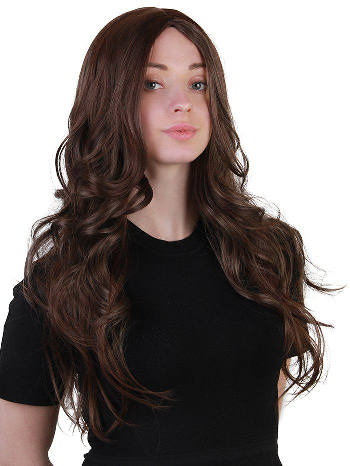 Fancy Long Center Parting Wavy Synthetic Wig